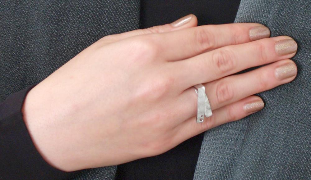 Haku[箔] SV925 Diamonds Ring SHINKO STUDIO