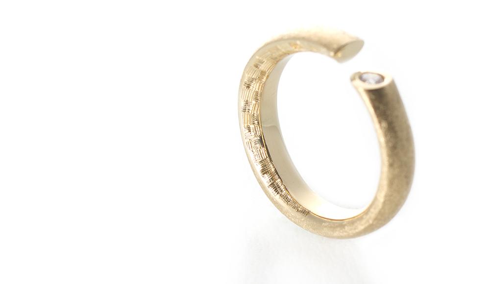 Hisho[飛翔] K18 Diamond Ring SHINKO STUDIO