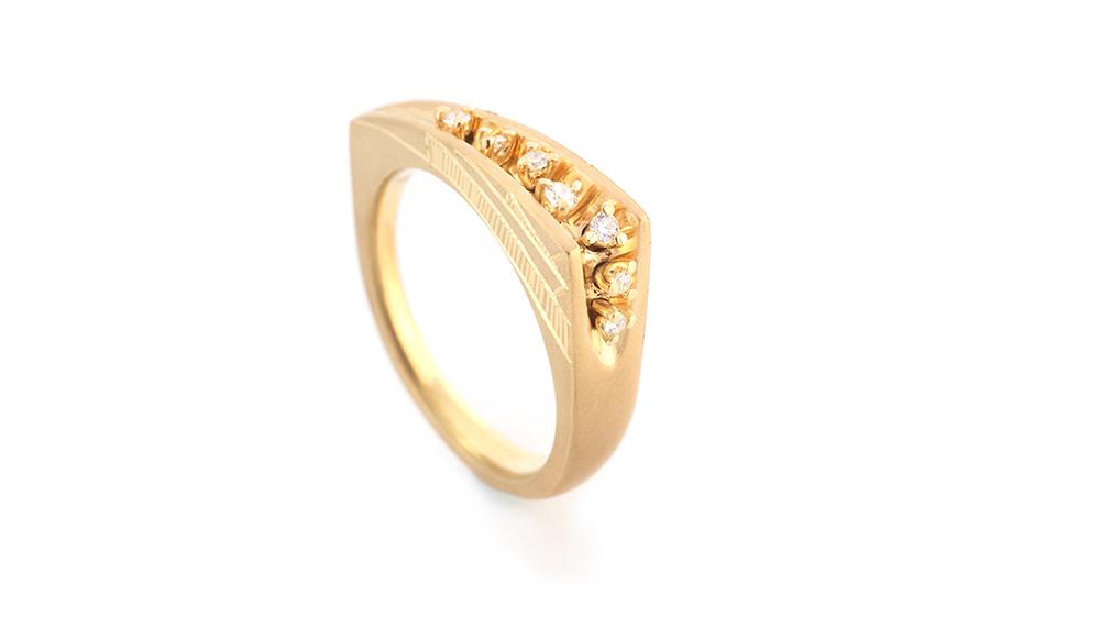 Mitsuru [満] K18 Diamond Ring SHINKO STUDIO