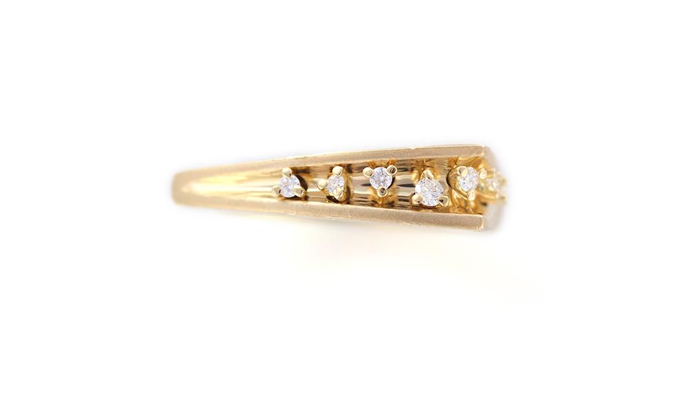 Mitsuru[満]K18 Diamond Ring SHINKO STUDIO