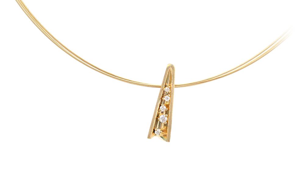 Mitsuru [満] K18 Diamond Pendant SHINKO STUDIO