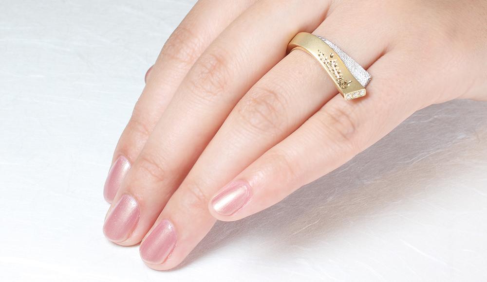 Yuki[結城]K18 K18WGダイヤモンドリング シンコーストゥディオ SHINKO STUDIO