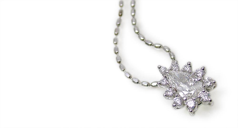 K18WGダイヤモンドペンダント カスタム・オーダー・リフォーム シンコーストゥディオ SHINKO STUDIO