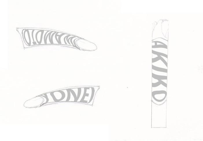 Ou 凹 リング 文字