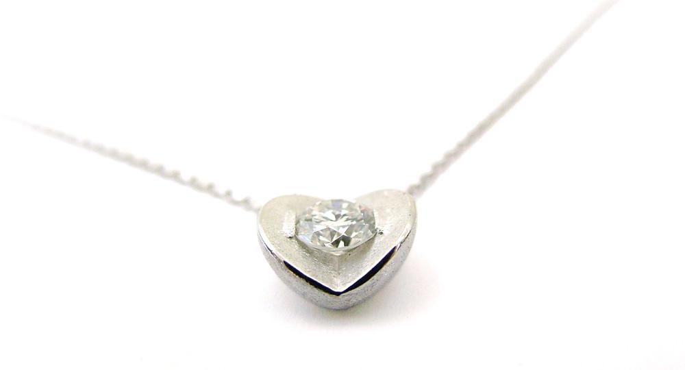K18WG ダイヤモンドペンダント リフォーム