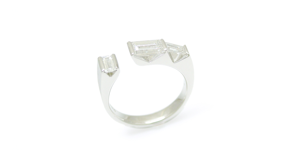 Pt900ダイヤモンドリング シンコーストゥディオ