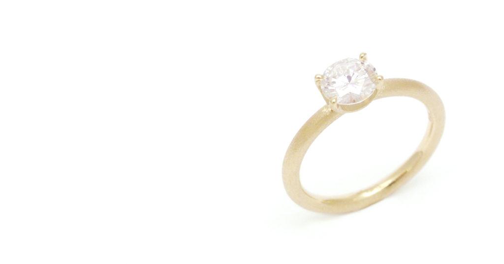 K18ダイヤモンドリング ジュエリーリフォーム シンコーストゥディオ SHINKO STUDIO