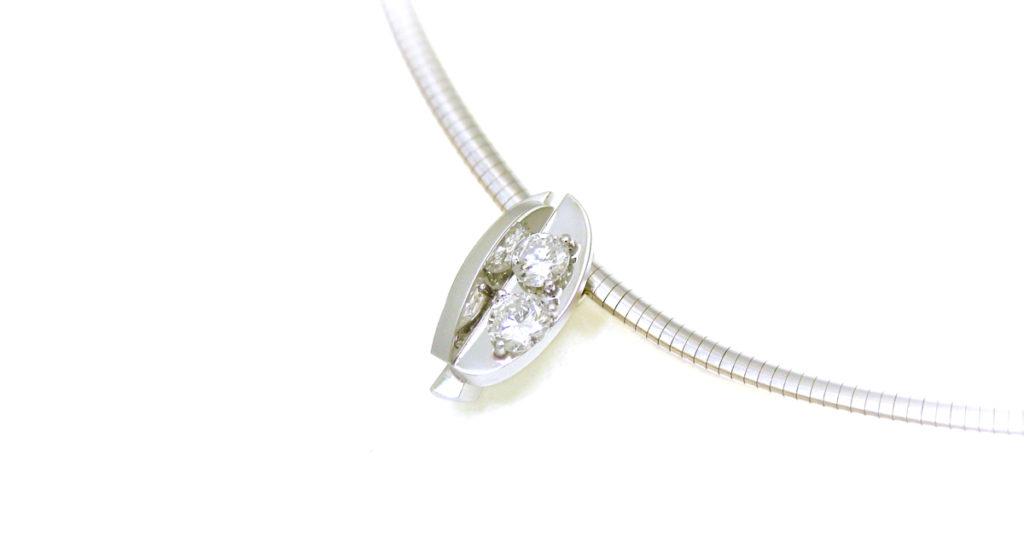 Pt900 ダイヤモンド ペンダント ジュエリーリフォーム シンコーストゥディオ