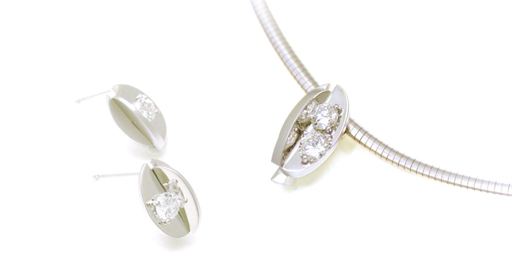 Pt900 ダイヤモンド ペンダント ピアス ジュエリーリフォーム シンコーストゥディオ