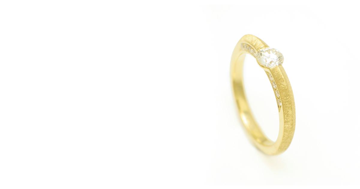 K18ダイヤモンドリング 側面ダイヤ リフォーム シンコーストゥディオ SHINKO STUDIO