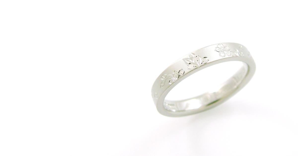 Pt900 和彫り 結婚指輪 シンコーストゥディオ SHINKO STUDIO